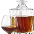 Baron Otard Cognac. Brandy Glass and bottle on white background. clipping pa